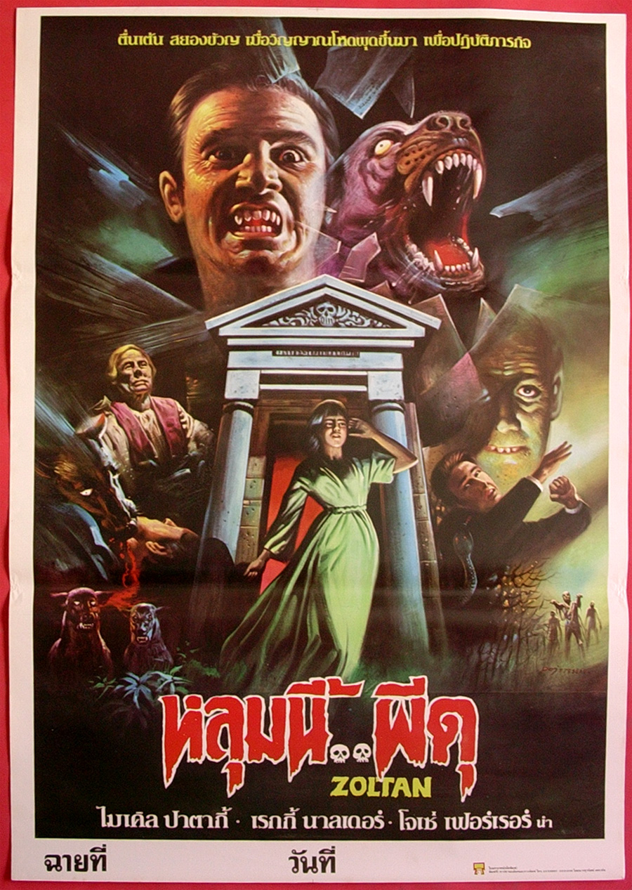 Thai Movie Poster for &quotZoltan, Hound of Dracula&quot
