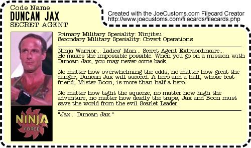 Duncan Jax File Card