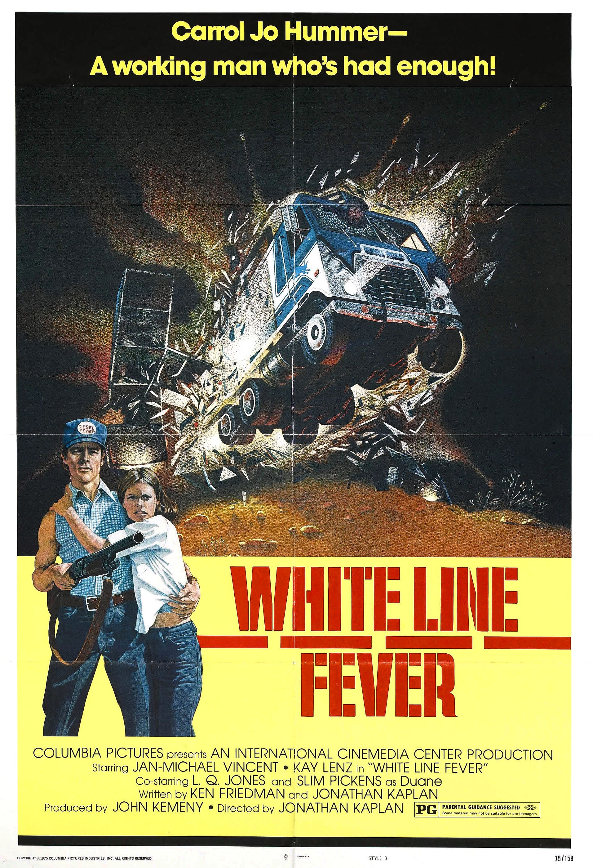 "Movie Poster for ""White Line Fever"""