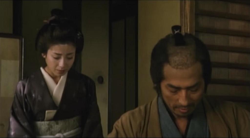 Rie Miyazawa and Hiroyuki Sanada in <em>The Twilight Samurai</em> (2002)
