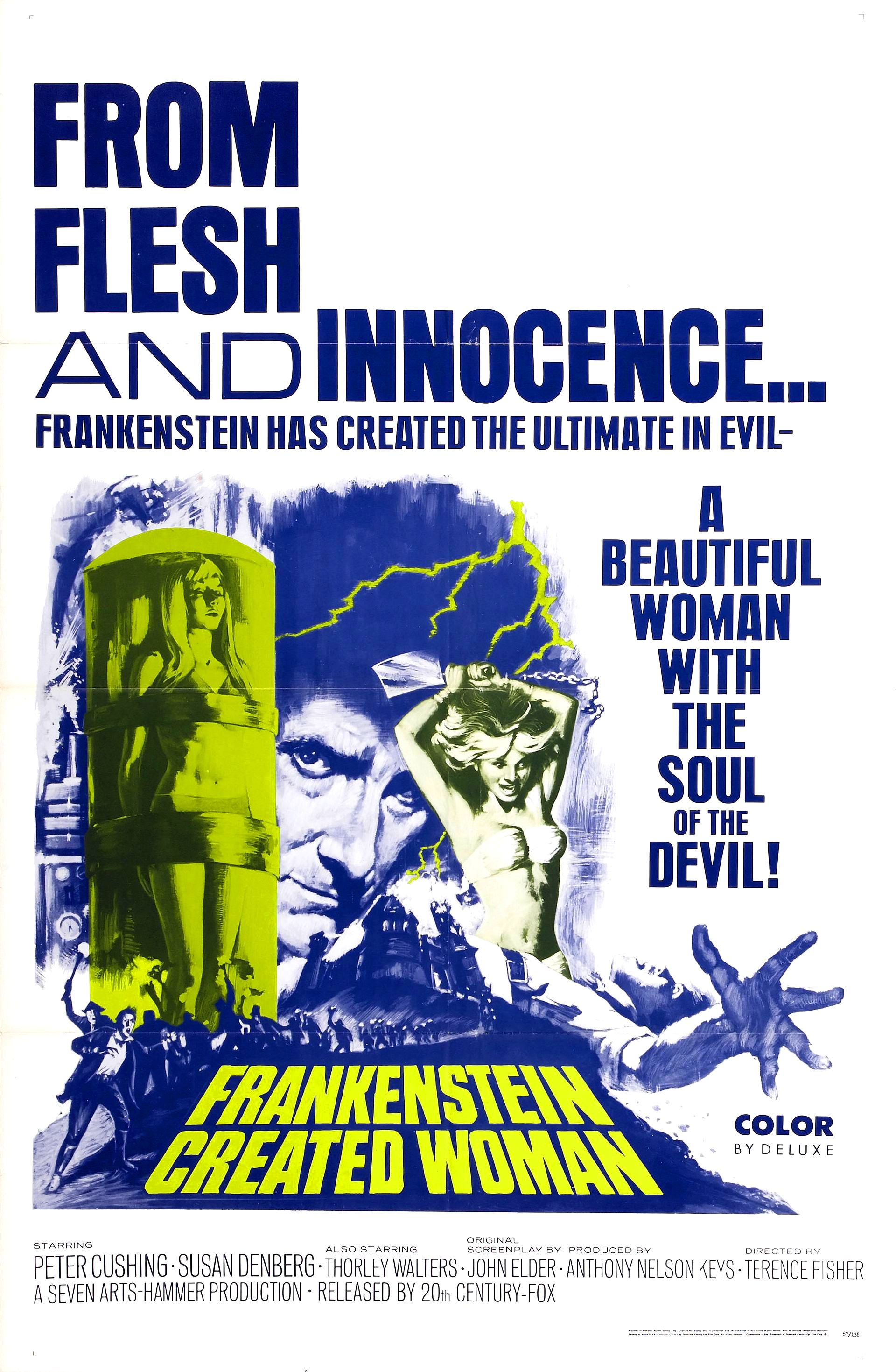 Movie Poster for &quotFrankenstein Created Woman&quot