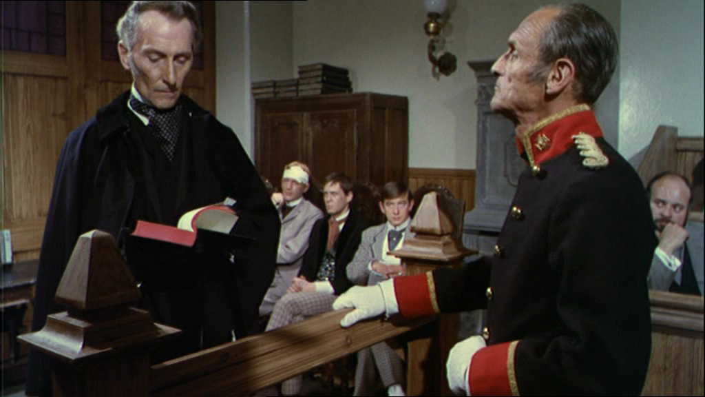 "Peter Cushing in ""Frankenstein Created Woman"" (1967)"