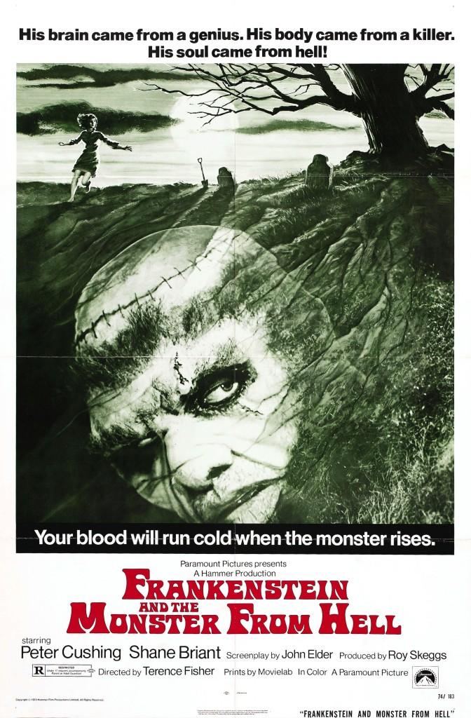 "Movie Poster for ""Frankenstein and the Monster from Hell"" (1974)"