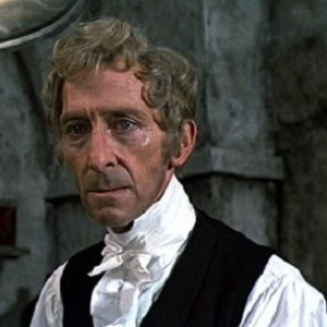 "Peter Cushing in ""Frankenstein and the Monster from Hell"" (1974)"