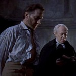 "Peter Cushing and Alex Gallier in ""The Revenge of Frankenstein"" (1958)"