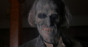 "Peter Cushing as Arthur Edward Grimsdyke, risen from the grave, in ""Tales from the Crypt"" (1972)"