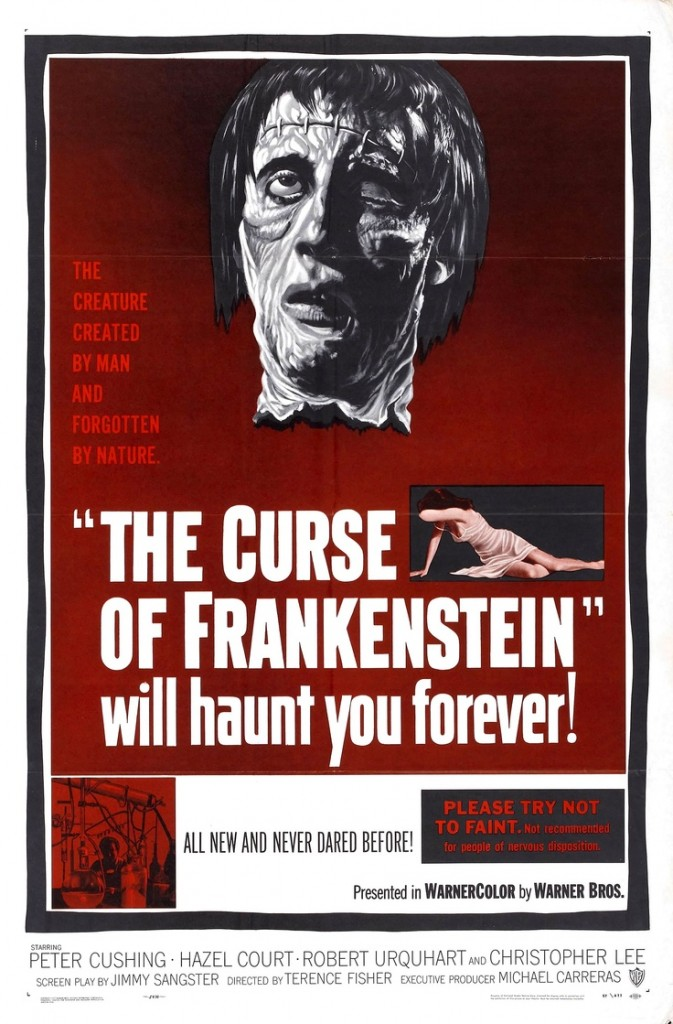 "Movie Poster for ""The Curse of Frankenstein"" (1957)"
