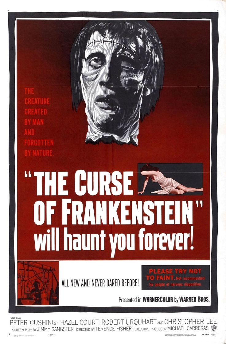 Movie Poster for &quotThe Curse of Frankenstein""