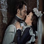 "Baron Frankenstein (Peter Cushing) makes time with Justine (Valerie Gaunt) in ""The Curse of Frankenstein"" (1957)"