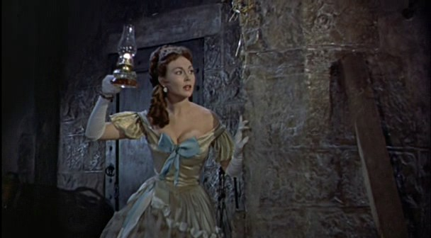 "Elizabeth (Hazel Court) snoops around in ""The Curse of Frankenstein"" (1957)"