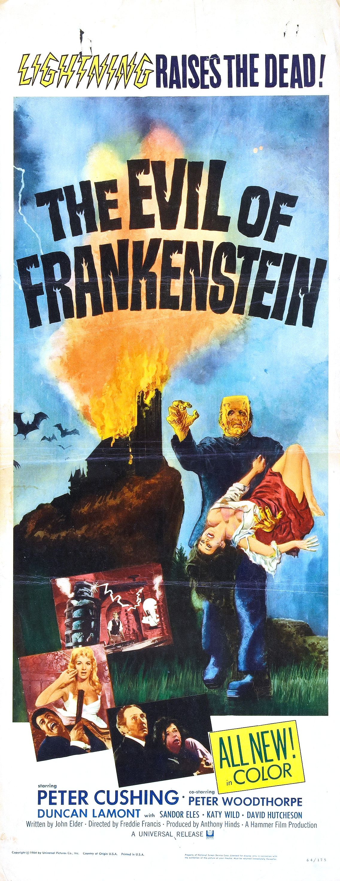 "Movie Poster for ""The Evil of Frankenstein"" (1964)"