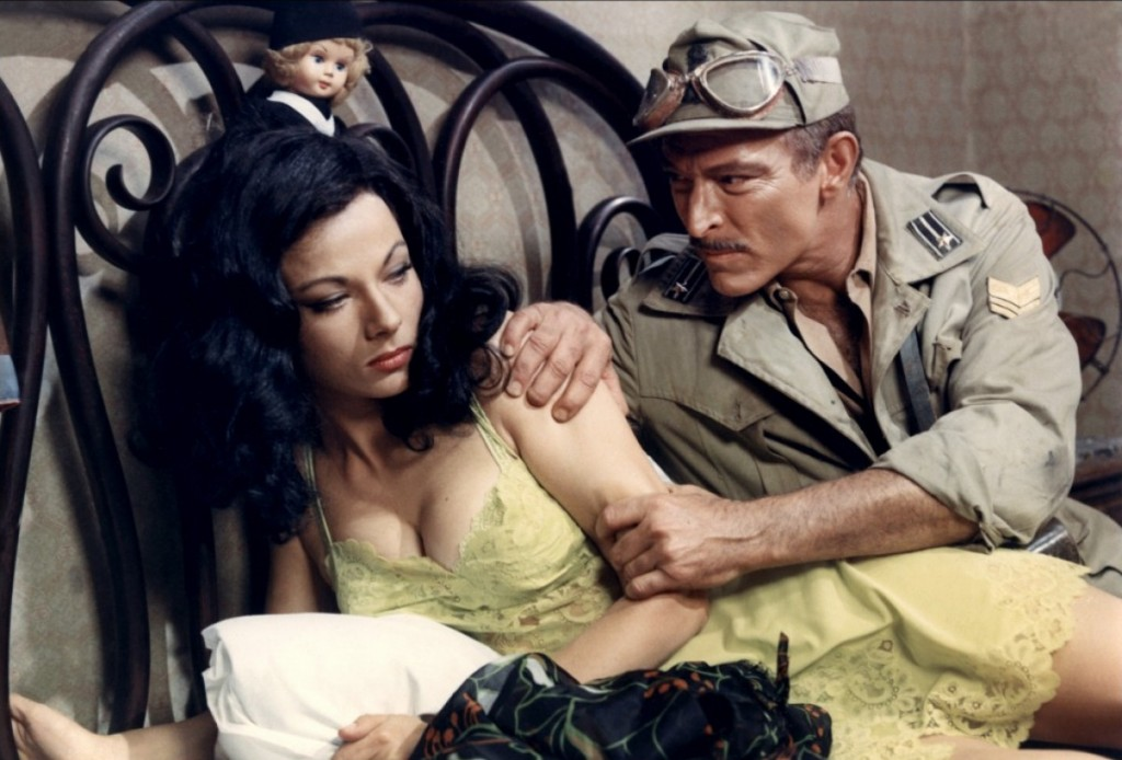 "Press Photo for ""Commandos"" (1968) with Marilù Tolo and Lee Van Cleef"