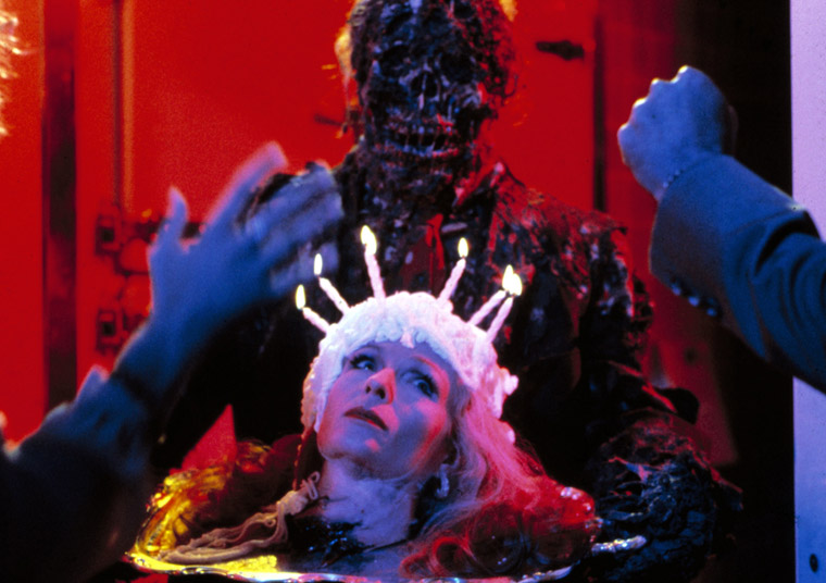 "John Amplas and Carrie Nye in ""Creepshow"" (1982)"