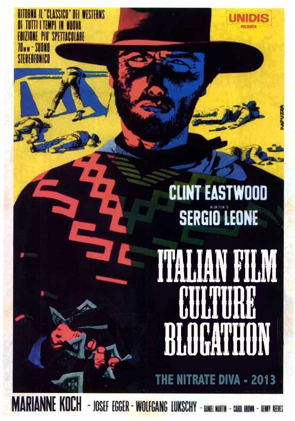 Banner for the 2013 Italian Film Culture Blogathon, hosted by The Nitrate Diva
