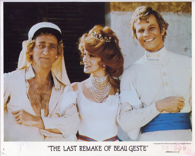 "Marty Feldman, Ann-Margret, and Michael York in a promotional photo for ""The Last Remake of Beau Geste"" (1977)"
