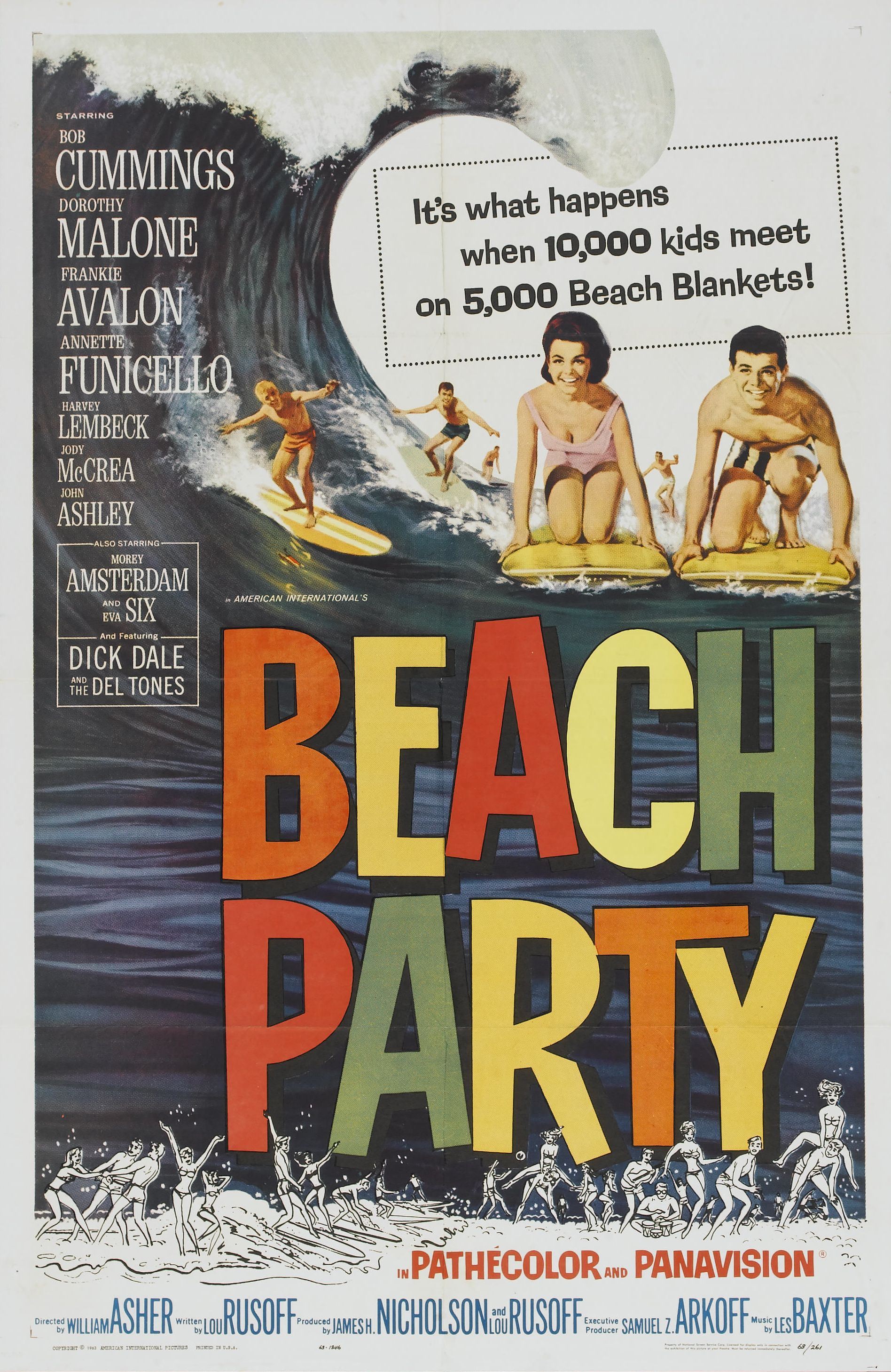 Movie Poster for &quotBeach Party""