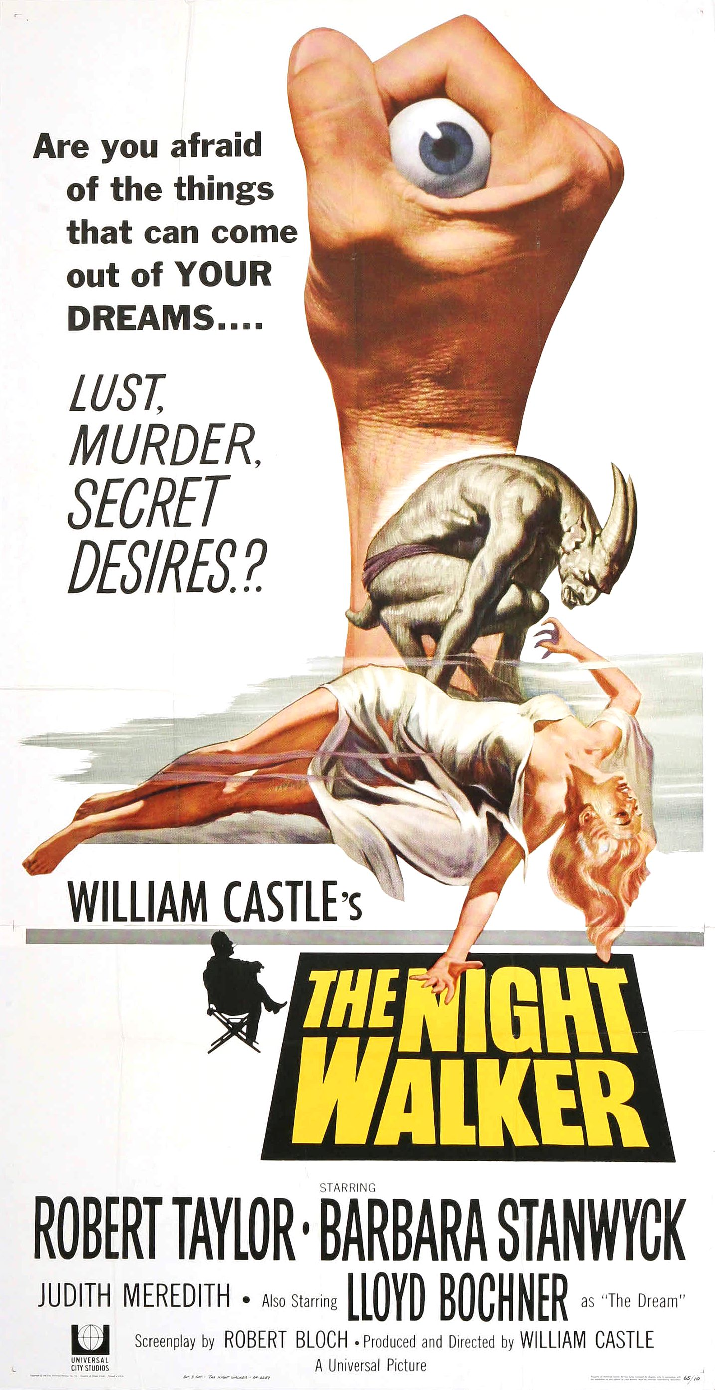 "Movie Poster for ""The Night Walker"" (1964)"