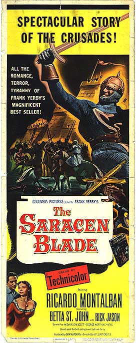 "Movie Poster for ""The Saracen Blade"" (1954)"