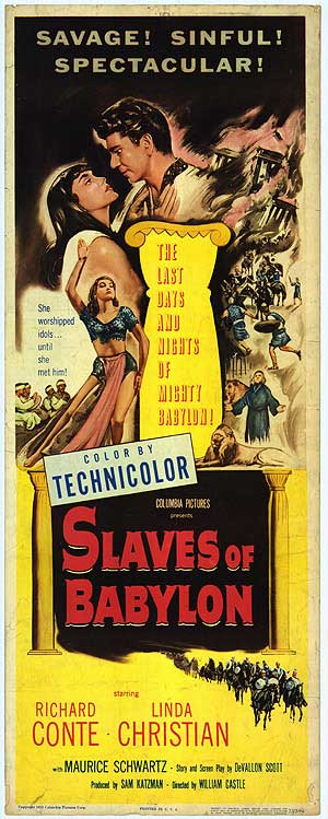 "Movie Poster for ""Slaves of Babylon"" (1953)"