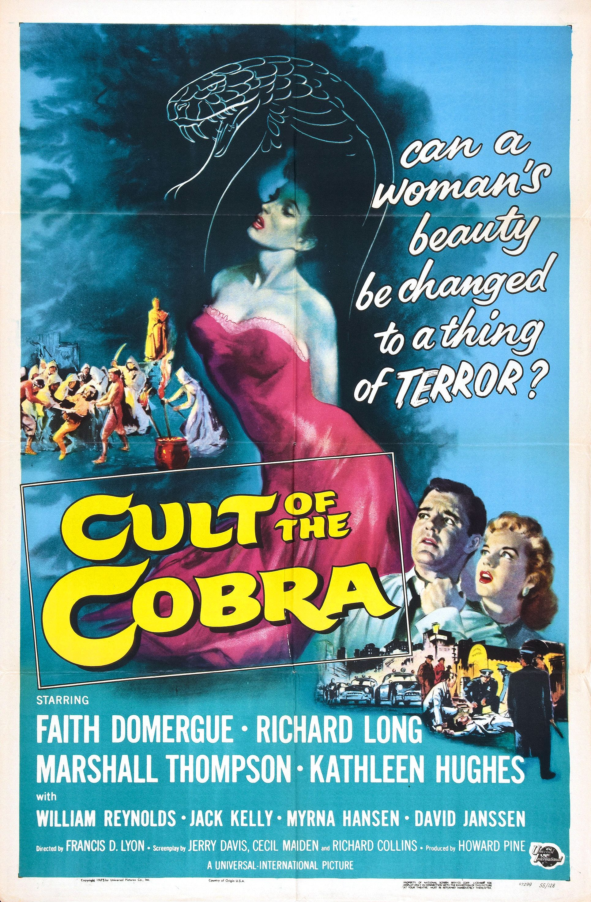 "Movie Poster for ""Cult of the Cobra"" (1955)"