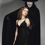 "Natalie Portman and Hugo Weaving in ""V for Vendetta"" Promotional Photo"