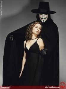 "Natalie Portman and Hugo Weaving in ""V for Vendetta"" Promotional Photo"