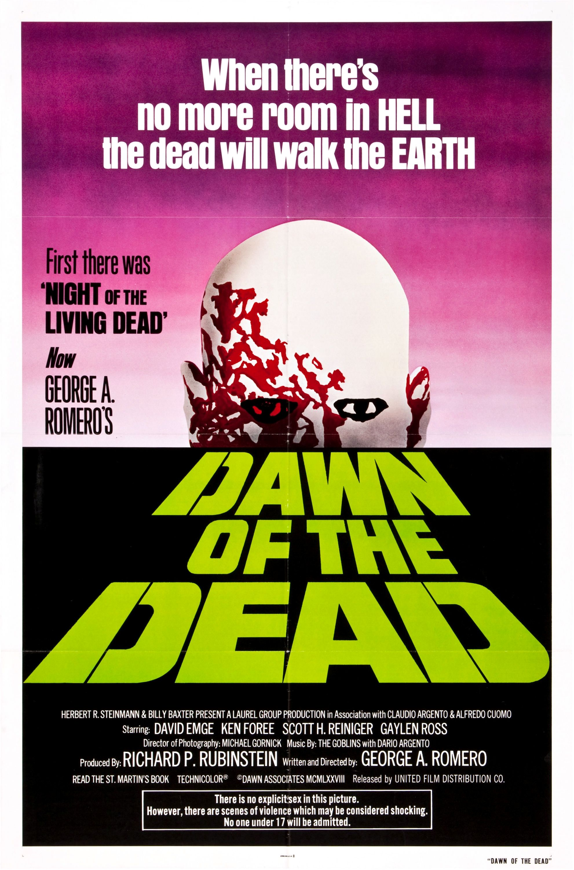 Movie Poster for &quotDawn of the Dead&quot