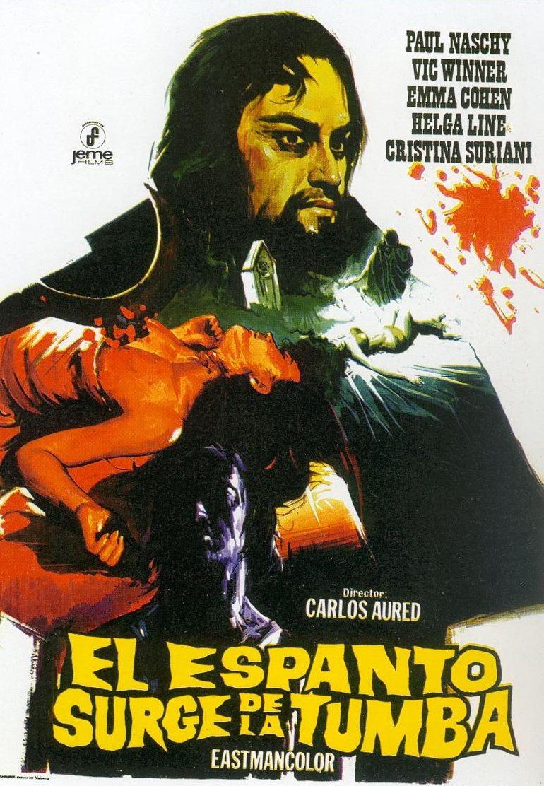 Spanish Movie Poster for &quotHorror Rises from the Tomb&quot