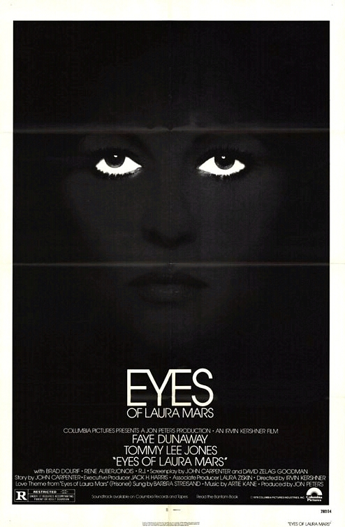 "Movie Poster for ""Eyes of Laura Mars"" (1978)"