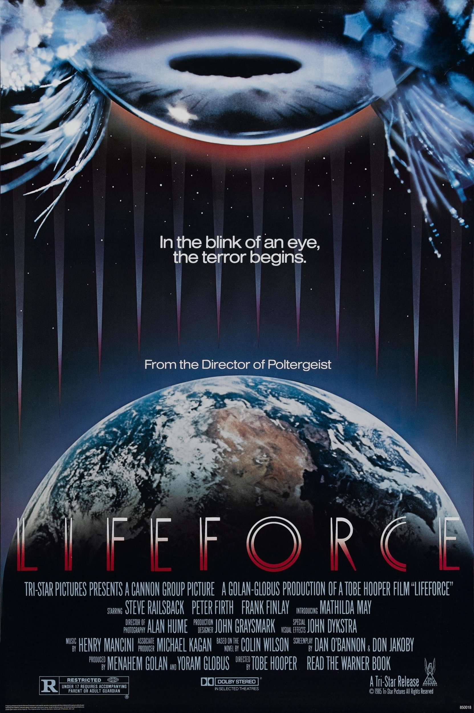 "Movie Poster for ""Lifeforce"" (1985)"